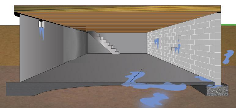 intra apa in beci-curge peste tot